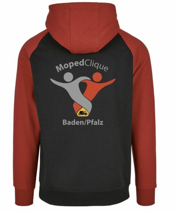 Textildruck Tshirts bedrucken lassen 2 Farben Hoodie Rot Schwarz Rückseite