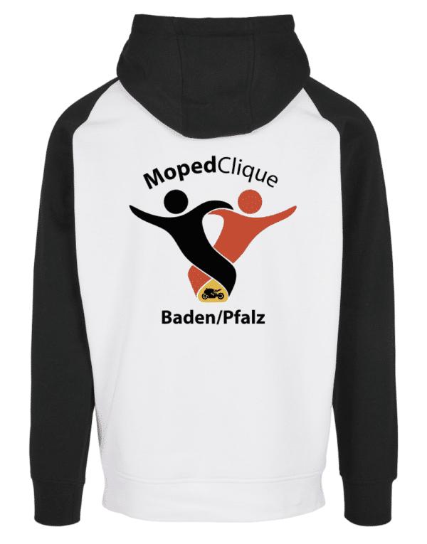 Textildruck Tshirts bedrucken lassen 2 Farben Hoodie Schwarz weiss Rückseite