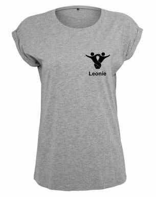 Textildruck Tshirts bedrucken lassen Damen Oversize Grau
