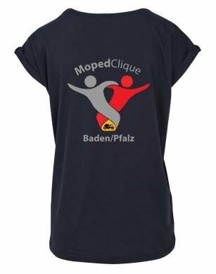 Textildruck Tshirts bedrucken lassen Damen Oversize Marine Rückseite