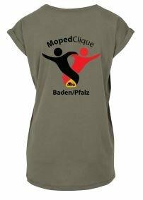 Textildruck Tshirts bedrucken lassen Damen Oversize Olive Rückseite