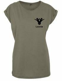 Textildruck Tshirts bedrucken lassen Damen Oversize Olive