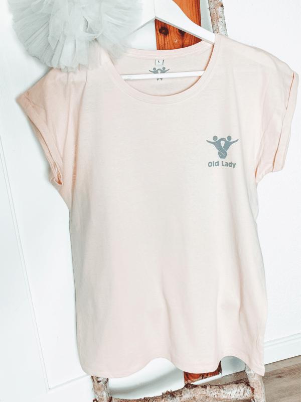Textildruck Tshirts bedrucken lassen Damen Oversize Rosè
