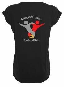 Textildruck Tshirts bedrucken lassen Damen Oversize Schwarz Rückseite