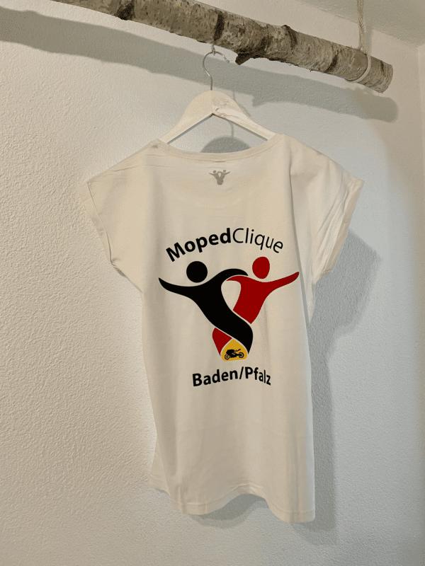 Textildruck Tshirts bedrucken lassen Damen Oversize Weiss Rückseite