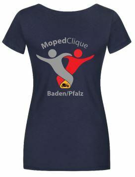 Textildruck Tshirts bedrucken lassen Damen Tailliert Blau Rückseite