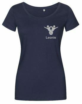 Textildruck Tshirts bedrucken lassen Damen Tailliert Blau