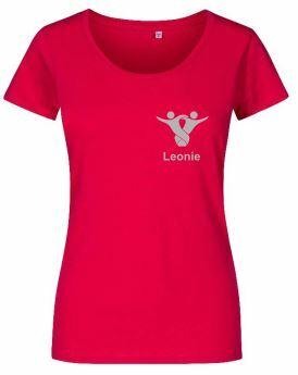 Textildruck Tshirts bedrucken lassen Damen Tailliert Rot