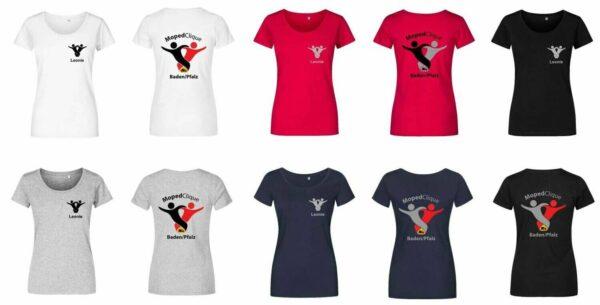Textildruck Tshirts bedrucken lassen Damen Tailliert Übersicht
