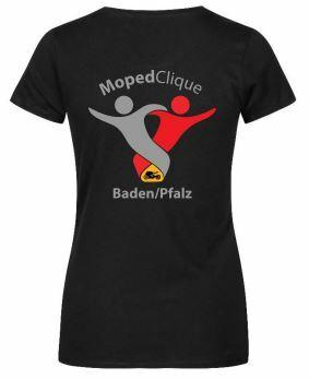 Textildruck Tshirts bedrucken lassen Damen Talliert Schwarz Rückseite