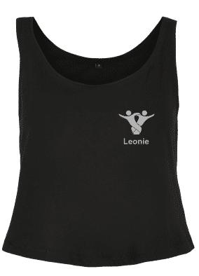 Textildruck Tshirts bedrucken lassen Damen Tanktop Schwarz
