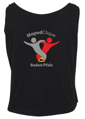 Textildruck Tshirts bedrucken lassen Damen Tanktop Schwarz Rückseite