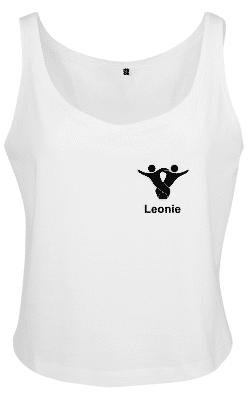 Textildruck Tshirts bedrucken lassen Damen Tanktop Weiss