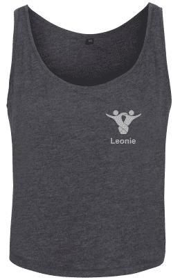 Textildruck Tshirts bedrucken lassen Damen Tanktop kohle