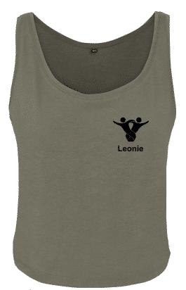 Textildruck Tshirts bedrucken lassen Damen Tanktop olive Rückseite