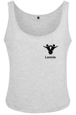 Textildruck Tshirts bedrucken lassen Damen Tanktops grau