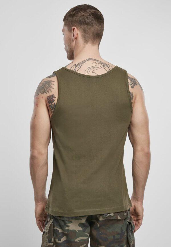 Textildruck Tshirts bedrucken lassen Herren Tanktop Olive Rückseite
