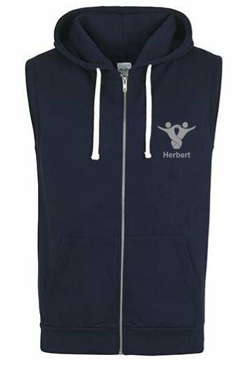 Textildruck Tshirts bedrucken lassen Vest Hoodie Navy 1