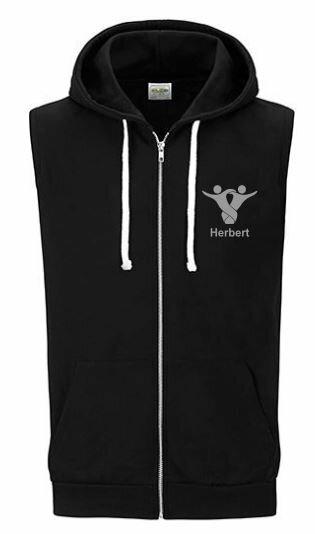 Textildruck Tshirts bedrucken lassen Vest Hoodie Schwarz 1