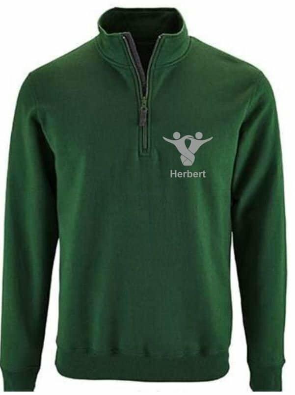 Textildruck Tshirts bedrucken lassen Zippullover Grün